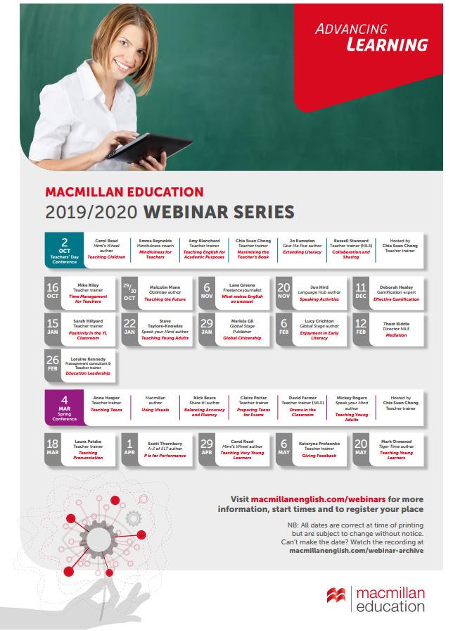 Macmillan free webinars